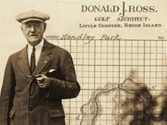 Donald Ross, right, died in 1948.