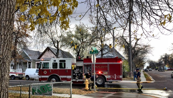 Crews have contained an underground fire near 7th Avenue North and 9th Street, where smoke was coming form the city sewer system.