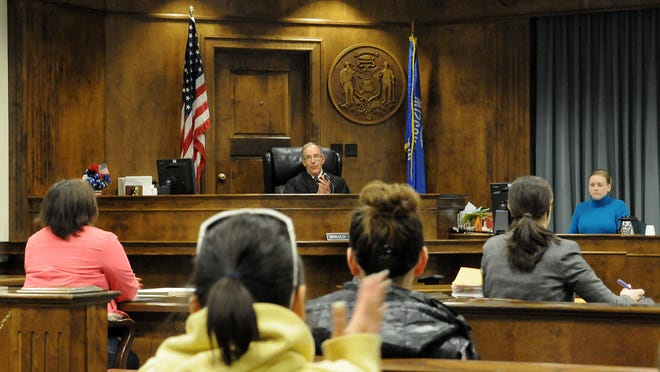 Brown County Circuit Court Judge Donald Zuidmulder presides over drug court.