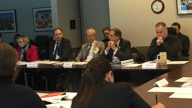 Members of the state Advisory Council on Walkability and Pedestrian Awareness meet Tuesday in Delaware. The 20-member group was created to address pedestrian safety concerns.