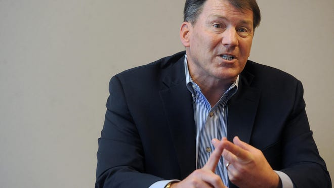 Mike Rounds Senator Mike Rounds talks with Argus Leader Media on Jan. 6, 2016.