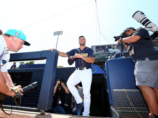 Tim Tebow, outfielder for Mets Double-A affiliate Binghamton