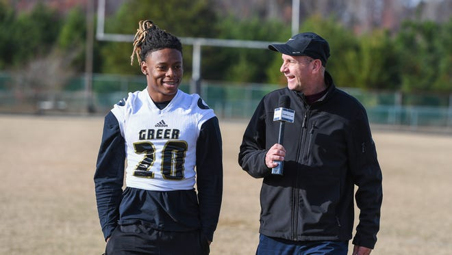 """Greer senior wide receiver/defensive back Qua White is featured in this week's edition of """"100 Yards with Bob Castello."""""""