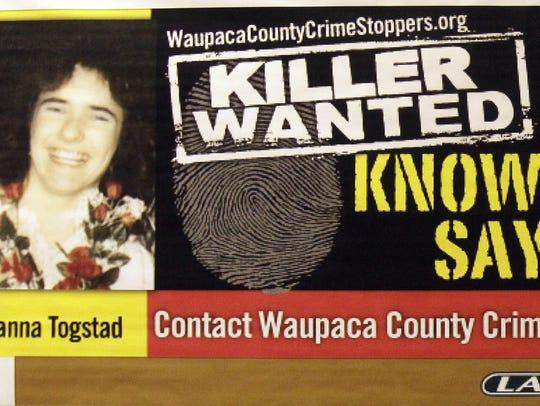 Waupaca County Sheriff Brad Hardel displayed this copy