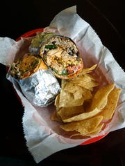 Chicken burrito at Hot Rosita's on Main Street in Rochester.