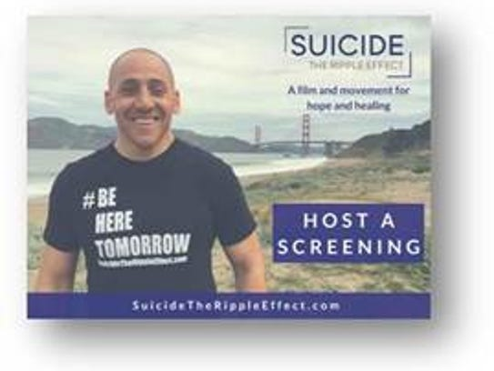 """A screening of """"Suicide: The Ripple Effect"""" will be"""