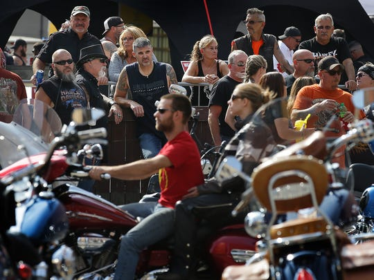 Thousands of motorcycle enthusiasts and riders converged on downtown Indianapolis for Downtown Indy, Inc.'s Motorcycles on Meridian, Saturday evening, August 26, 2017.