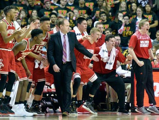 Wisconsin coach Greg Gard took over for Bo Ryan, who