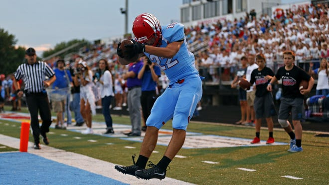 Luke Montgomery of Glendale was named Springfield's most valuable high school football player for the 2016 season by the Springfield Quarterback Club.