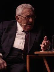 Former Secretary of State Henry Kissinger speaks about