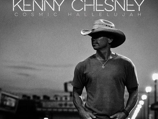 """The cover of Kenny Chesney's """"Cosmic Hallelujah,"""" shot"""