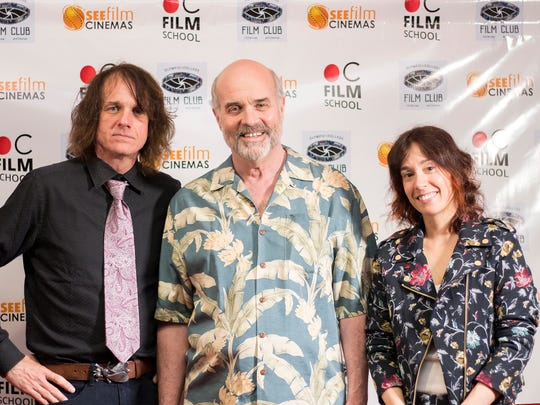 The faculty for Olympic College's new digital film-making program include, from left, Aaron Drane, Timothy Hagen and Amy Hasketh.