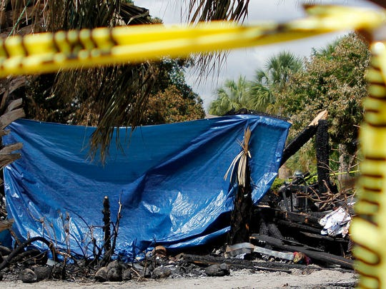Scenes on Monday from a Fort Myers Beach duplex on Estero Boulevard that exploded Sunday night. One person died in the fire and two other people were taken to the hospital. Their condition was last reported as stable.
