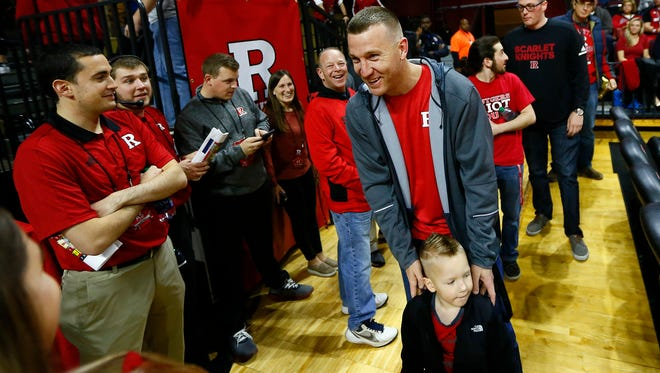 Free agent Todd Frazier of Toms River ready to watch Rutgers men's basketball vs. Florida State at the RAC in Piscataway. November 28, 2017. Piscataway, New Jersey