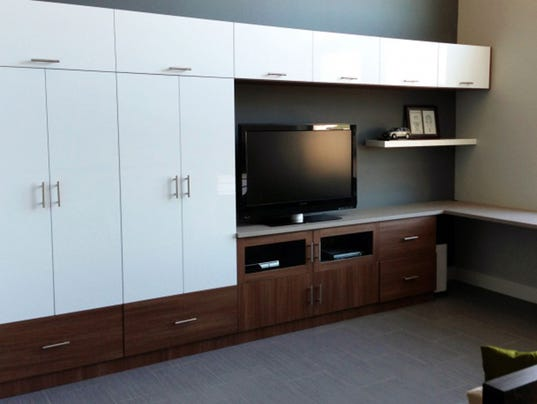 Work play home office entertainment space in one for California closets reno