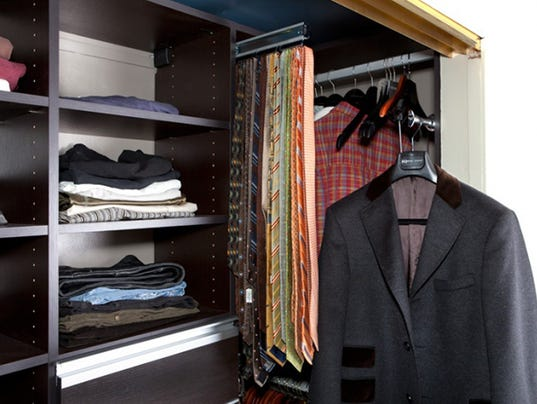 Before after fashionable functional reach in closet for California closets reno
