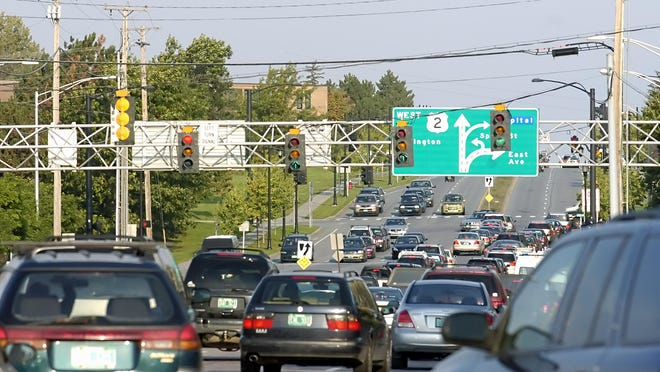 A busy day on Williston Road in South Burlington.