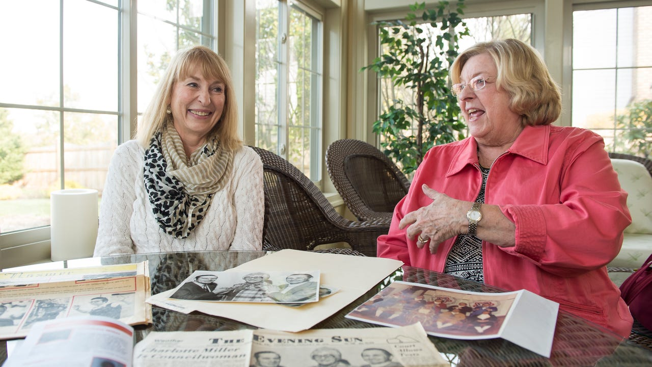 Carol Miller Greening and Liz Webb reminisce about Greening's late mother, Charlotte Carver Miller. In 1976, Miller became the first woman to sit on the Hanover Borough Council where she represented the Fourth Ward for 10 years.