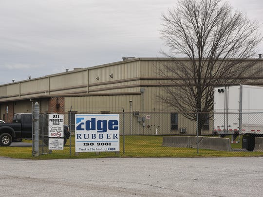 Edge Rubber is located off of 811 Progress Road in Chambersburg.