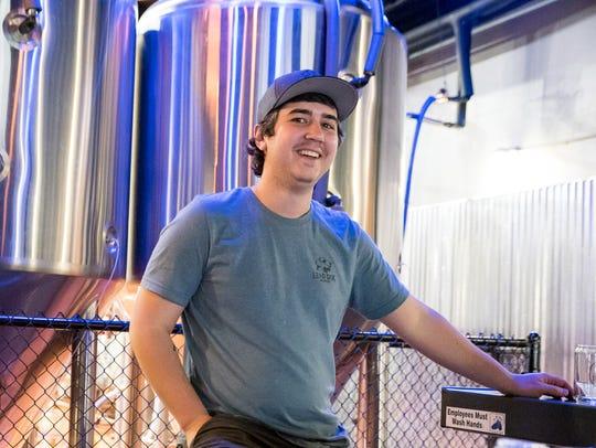 Ryan Gaumer, owner-brewer of Lead Dog Brewing Co. on East Fourth Street.
