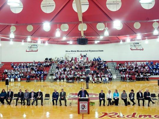 Bucyrus Mayor Jeff Reser speaks during Tuesday night's