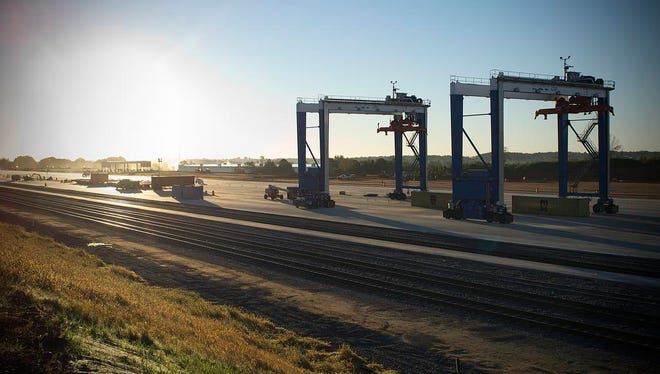 The Inland Port off the J. Verne Smith Parkway.
