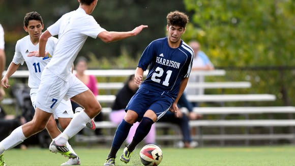 Harrison's Kalleb Braga lead the Blue Tide to the Group 2 state semifinals last season.