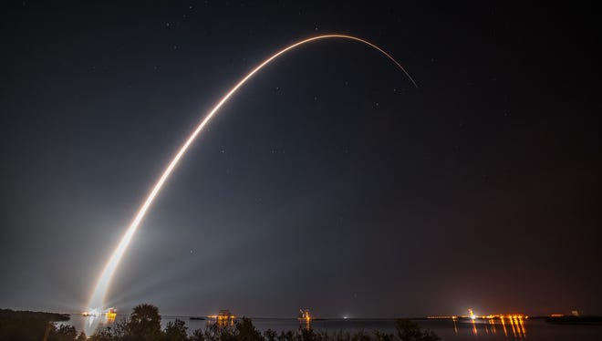 GOES-R lifted off at 6:42 p.m. EST on November 19, 2016 from Cape Canaveral Air Force Station's Space Launch Complex 41, aboard a United Launch Alliance Atlas V 541 rocket. GOES-R is the first of four satellites to be launched for NOAA in a new and advanced series of spacecraft. Once in geostationary orbit, it will be known as GOES-16.