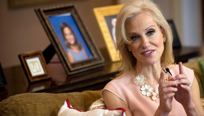 """In an interview with Record columnist Mike Kelly at her home in Alpine in March, Kellyanne Conway, counselor to President Trump, suggested that """"microwave ovens that turn into cameras"""" can be used as a surveillance tool."""