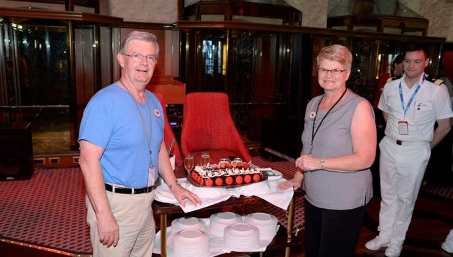 Carnival this month celebrated Bernard and Janice Caffery's 200th cruise with the line.