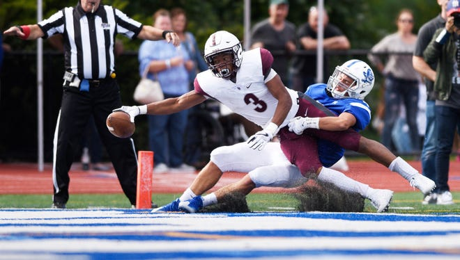 Jalen Berger (3) has accounted for eight Don Bosco touchdowns this season.