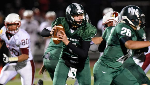 New Milford QB Ryan Picinic and the Knights will play