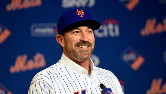 Mickey Callaway at his introductory presser