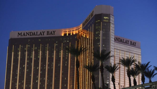 The Mandalay Bay Resort and Casino in Las Vegas.