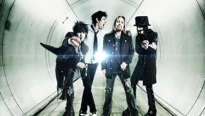 Motley Crue performed at the Bon Secours Wellness Arena on Tuesday.