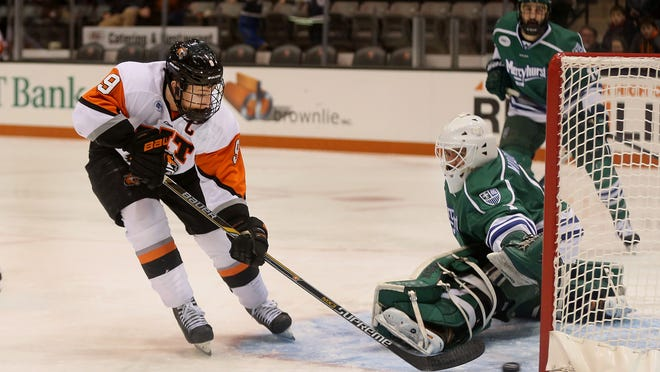 RIT's Matt Garbowsky has scored a team-high 26 goals this season and is a finalist for the Hobey Baker Award.