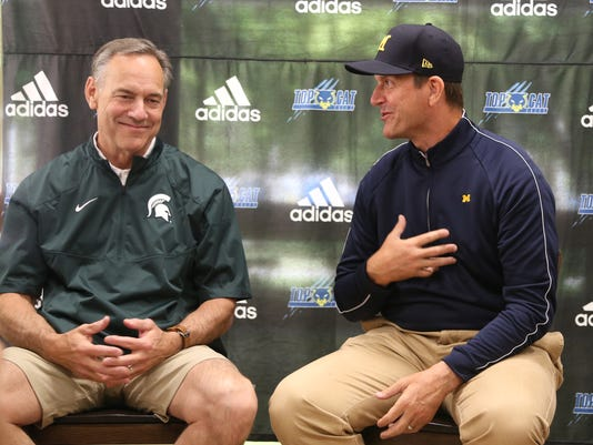 Michigan Wolverines, Jim Harbaugh, Michigan State, Mark Dantonio