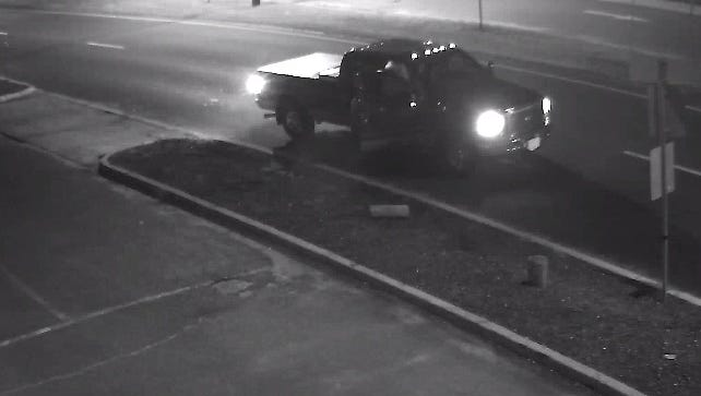 Authorities in Long Beach Island are looking for this four-door Ford truck.