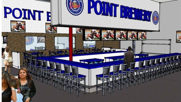 The new Point Burger Bar in the City of Pewaukee will include an area to view the electric-kart racing track next door.
