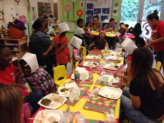 Children celebrate Thanksgiving at Guadalupe Center