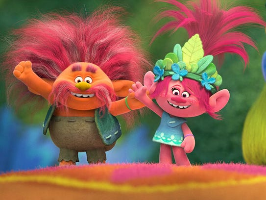 Troll King Peppy (voiced by Jeffrey Tambor) and his