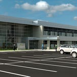 An artist rendering of the proposed new Festival Foods headquarters facility.