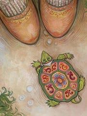 """Troll Turtle"" by Ingrid Kallick, part of ""Beyond Words: The Art of Regional Children's Book Illustration"" opening Nov. 4 at the Miller Art Museum in Sturgeon Bay."
