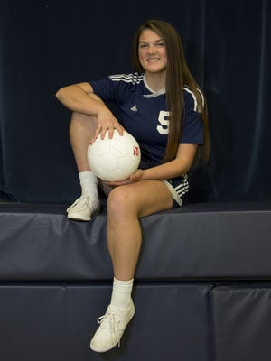 Central Catholic senior Maggie Bobillo is the Journal & Courier's Girl's Soccer Player of the Year.