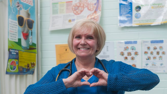 """Patti Butler, a school nurse at Zane North Elementary School in Collingswood, was nominated by a parent for a national contest seeking the country's best school nurse. Two weeks into the school year, she saw something """"off"""" about a young student and asked his mother to get him evaluated. It turned out, the boy had leukemia."""