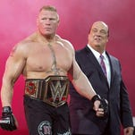 "Brock Lesnar will be involved in a triple threat match to determine the No. 1 contender for the WWE title at the ""FastLane"" pay-per-view event Feb. 21."