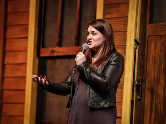 Meghan Malloy of Des Moines shares her story at the