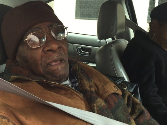Willie Current, 81, and his neighbor and friend Deborah Fleming of Detroit were stuck for several hours on the 11th floor of the Coleman A. Young Municipal Center on Tuesday, Dec. 2, in Detroit.