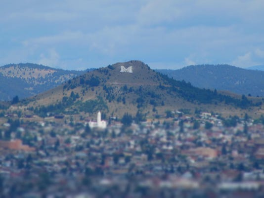 """""""M"""" on Big Butte, Town of Butte, Montana"""
