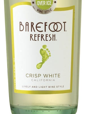 Barefoot Refresh Crisp White and the other wines in the Refresh line retail for about $7. They're meant to be served over ice.